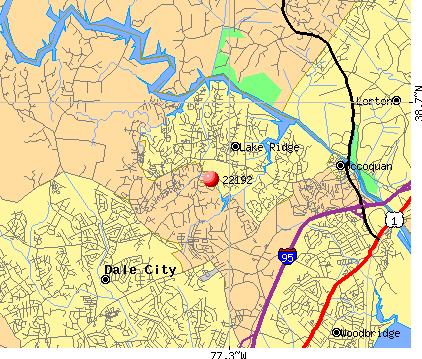 Lake Ridge, VA (22192) map