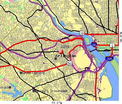 Arlington, VA (22201) map