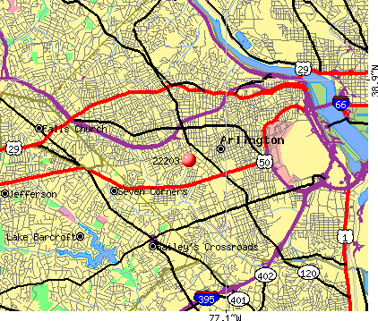 Arlington, VA (22203) map