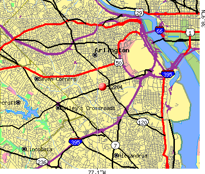 Arlington, VA (22204) map