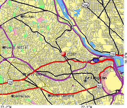 Arlington, VA (22207) map