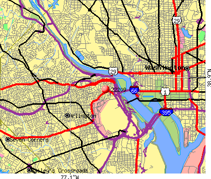 Arlington, VA (22209) map