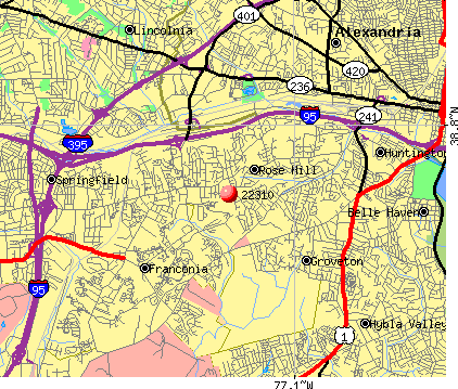 Rose Hill, VA (22310) map