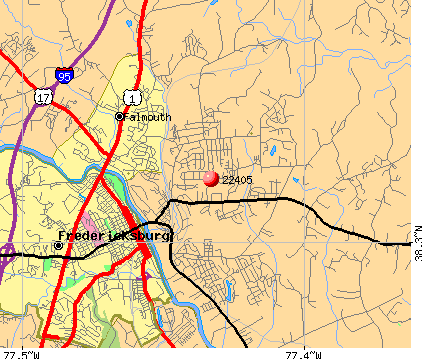 Falmouth, VA (22405) map