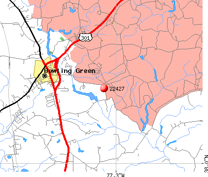 Bowling Green, VA (22427) map