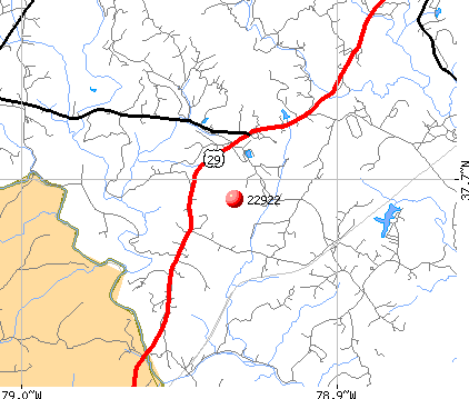 Arrington, VA (22922) map