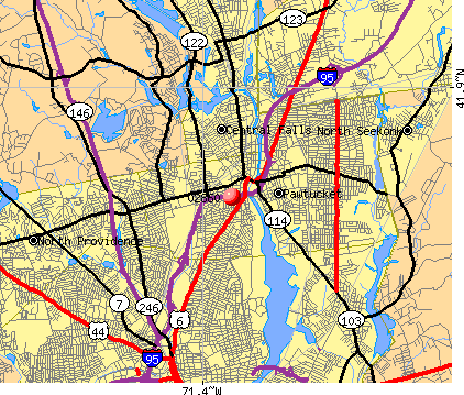 Pawtucket, RI (02860) map
