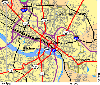 Richmond, VA (23219) map