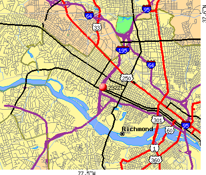 Richmond, VA (23221) map