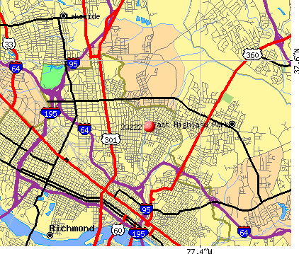 Richmond, VA (23222) map