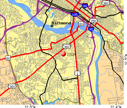 Richmond Zip Code Map | Zip Code MAP