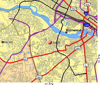 Richmond, VA (23225) map