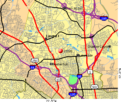 Laurel, VA (23228) map