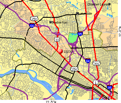 Richmond, VA (23230) map