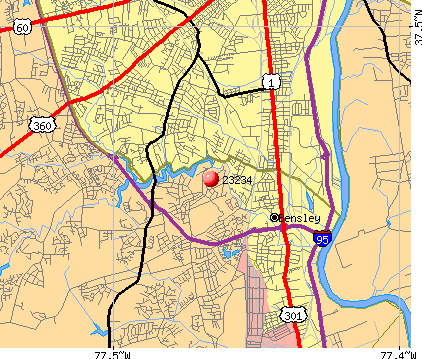 Richmond, VA (23234) map