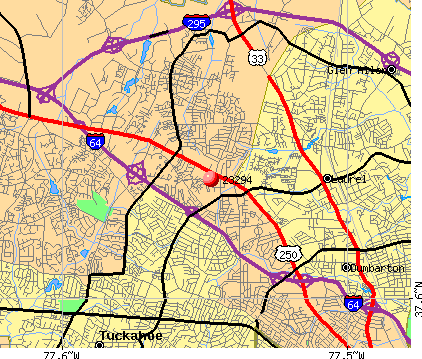 Laurel, VA (23294) map