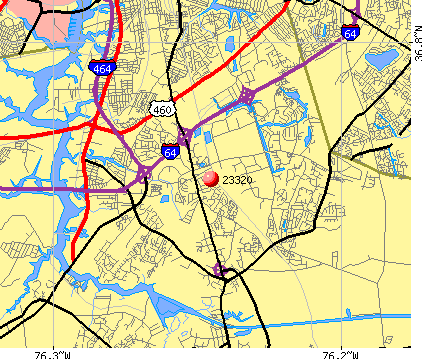 Chesapeake, VA (23320) map