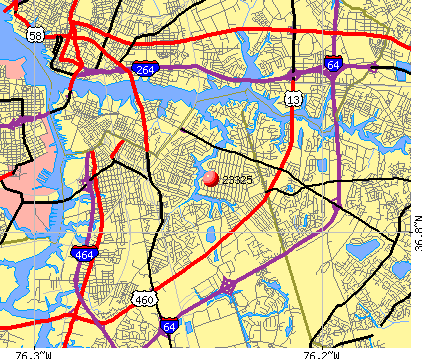 Chesapeake, VA (23325) map