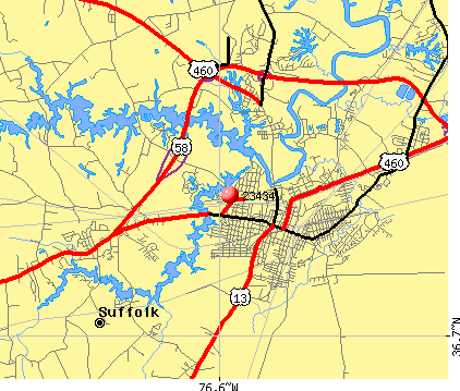 Suffolk, VA (23434) map