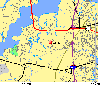 Suffolk, VA (23435) map