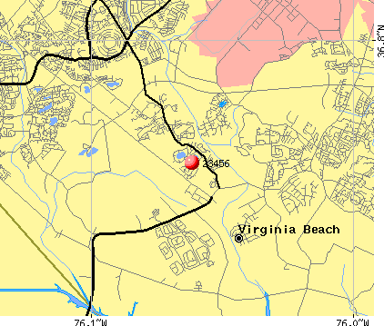 Virginia Beach, VA (23456) map