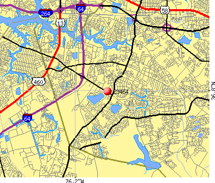 Virginia Beach, VA (23464) map