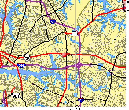 Norfolk, VA (23502) map