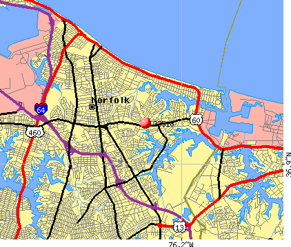 Norfolk, VA (23518) map