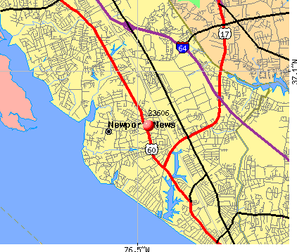 Newport News, VA (23606) map