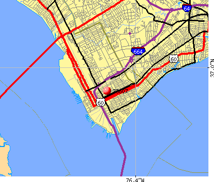 Newport News, VA (23607) map