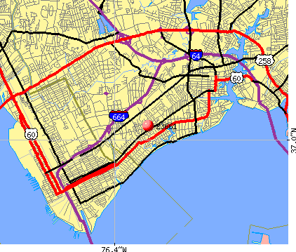 Hampton, VA (23661) map