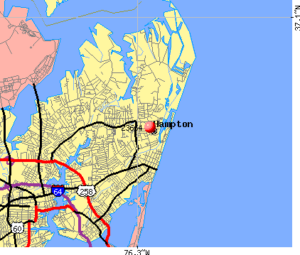 Hampton, VA (23664) map