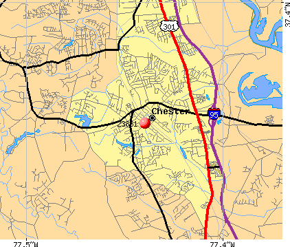 Chester, VA (23831) map