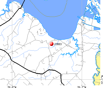 Surry, VA (23883) map