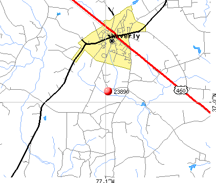 Waverly, VA (23890) map