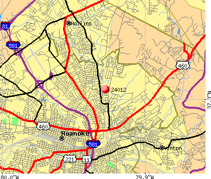 Roanoke, VA (24012) map