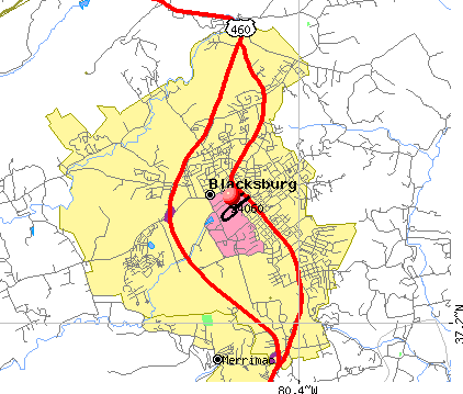 Blacksburg, VA (24060) map