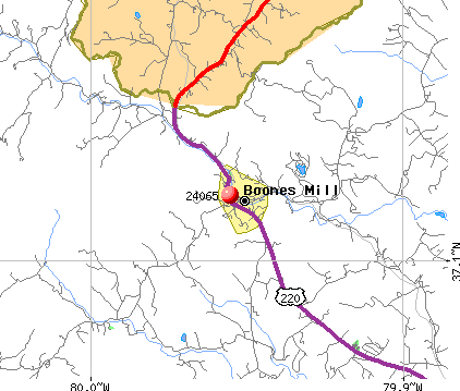 Boones Mill, VA (24065) map