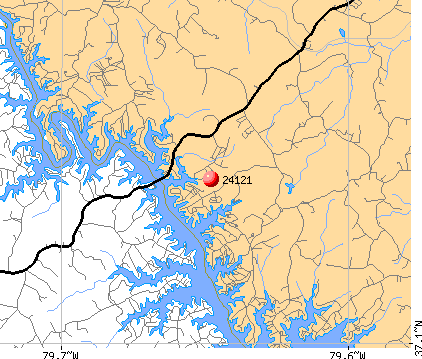 North Shore, VA (24121) map
