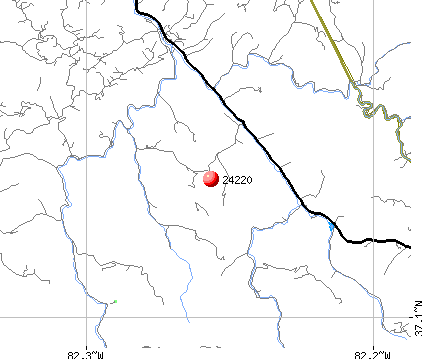 Haysi, VA (24220) map
