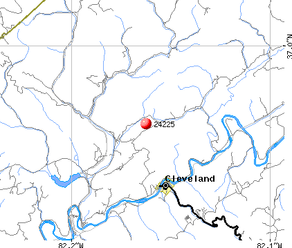 Cleveland, VA (24225) map