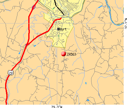 Hurt, VA (24563) map