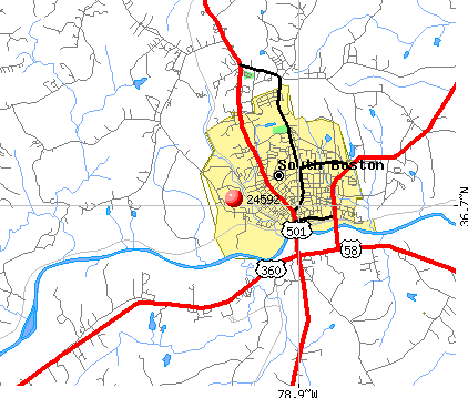 South Boston, VA (24592) map