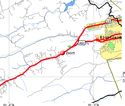Bluefield, VA (24605) map