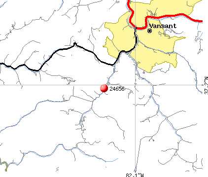 Vansant, VA (24656) map