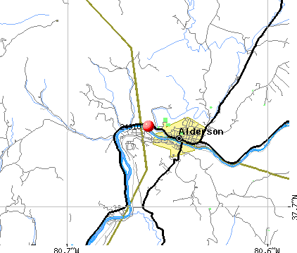 Alderson, WV (24910) map