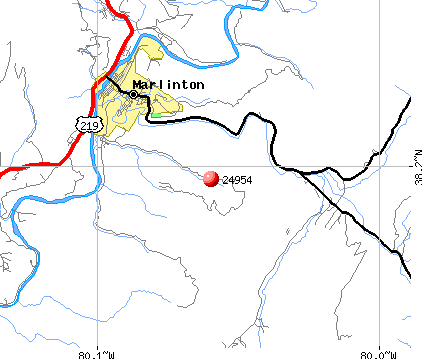 Marlinton, WV (24954) map