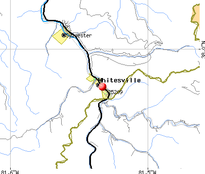 Whitesville, WV (25209) map