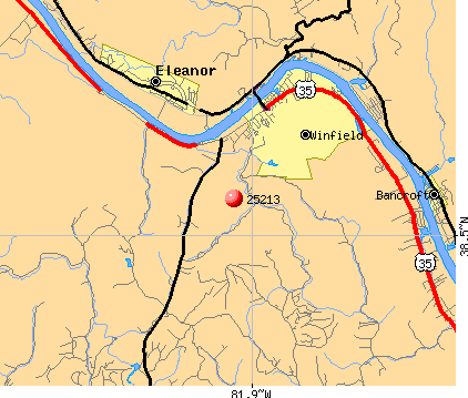 Winfield, WV (25213) map