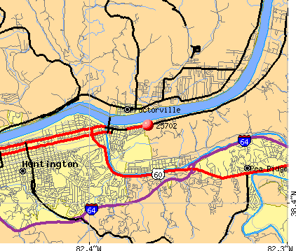 Huntington, WV (25702) map